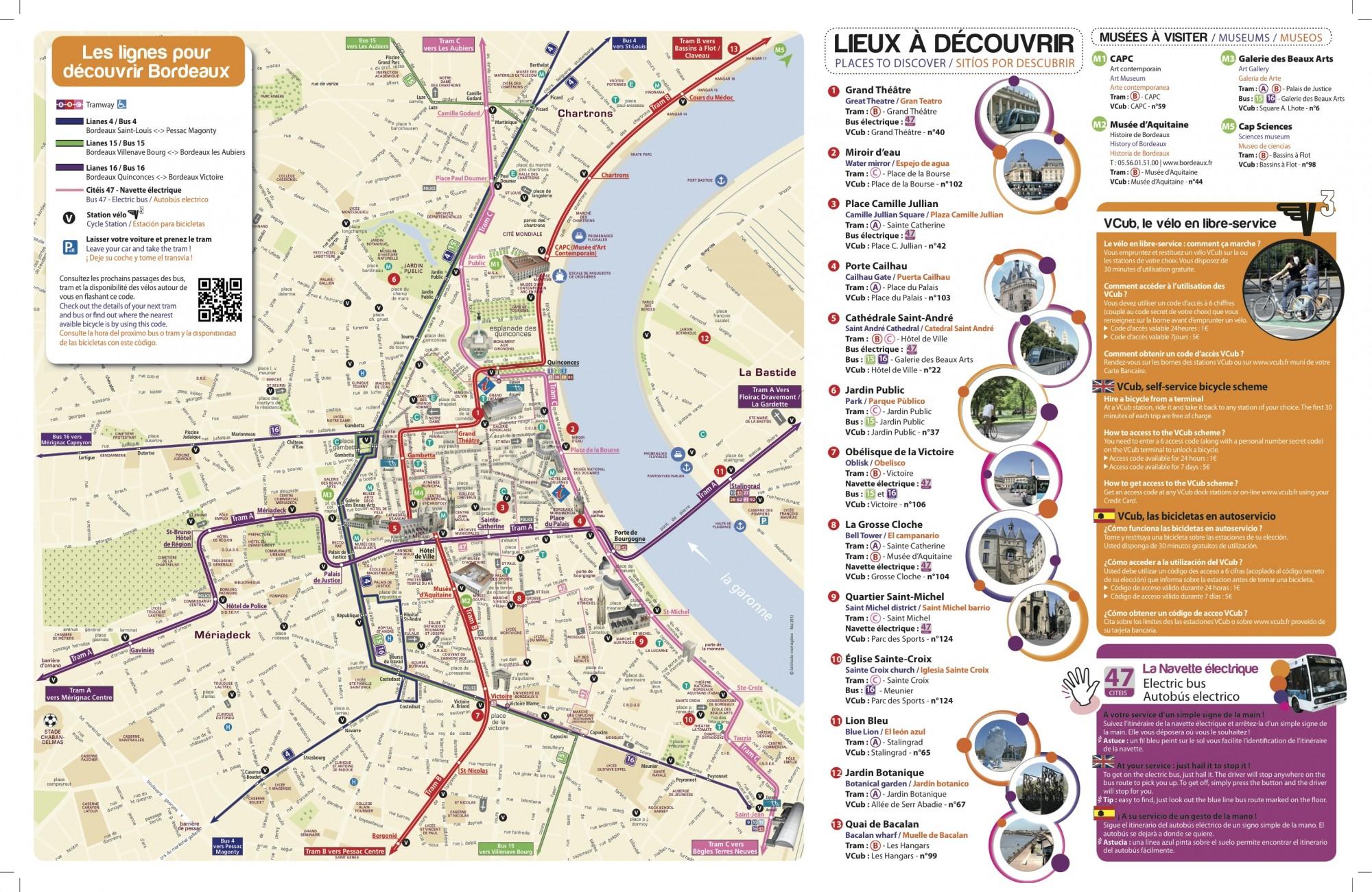Plan Touristique De Bordeaux