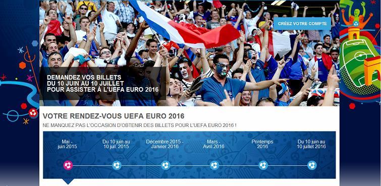 billeterie Euro 2016