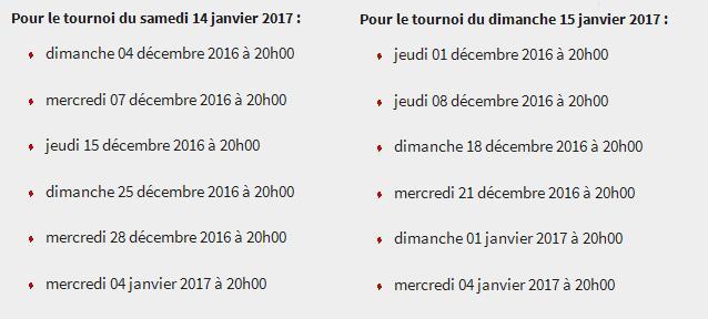 dates qualifs poker Bordeaux